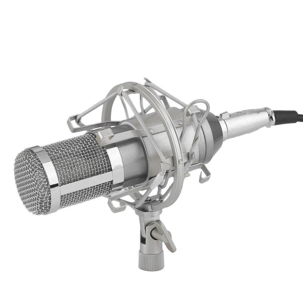 Professionnel Condenseur À Son Enregistrement Microphone Avec Support pour Karaoké Radio Braodcasting Chanter À Haute Qualité et Chaude