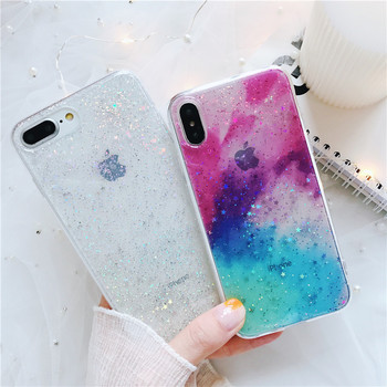 HAZEL Phone Case for iPhone 6 6S Case Silicon Bling Glitter Crystal Sequins Soft TPU Cover Fundas for iPhone 5 5S 7 8 Plus X marvel glass iphone case