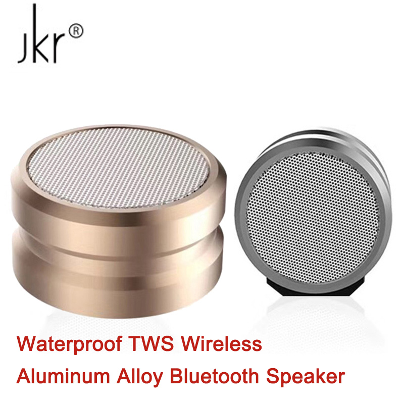 Waterproof IPX5 Aluminum Alloy Bluetooth Speaker Portable TWS Wireless Mini Speakers JKR 5 Bass BT4.2 Support TF AUX FM Radio