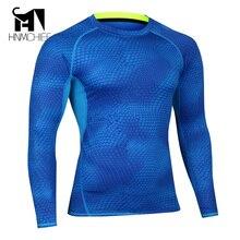 Mens Camisas De Compressão Skin Tight Musculação MMA Crossfit Exercício Workout Fitness Sportswear Mangas Compridas Camisola Roupas
