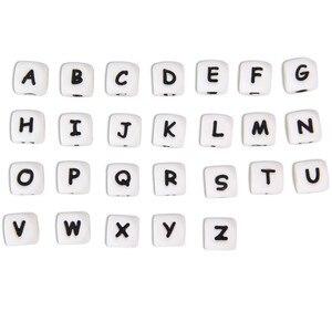 Image 3 - Chenkai 500 шт. 12 мм BAP бесплатно пищевой класс DIY силиконовые буквы бусины Детские Браслеты жевательные ювелирные изделия прорезыватель ожерелья соска