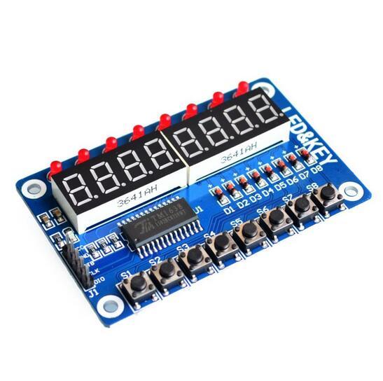 Key Display For AVR New 8-Bit Digital LED Tube 8-Bit TM1638 Module(China)