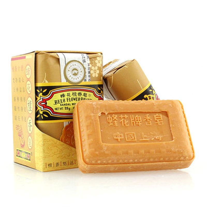 25g bee flower soap acne remove bath soap honey sandal wood Deodorant travel mini soap A6