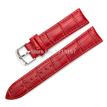 12 14 16 18 20 22 24 mm Microfiber Cowhide Genuine Leather Watch Strap Band Watchband Black .Red .Brown