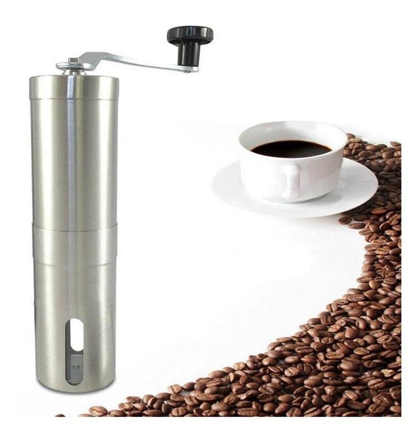 Ev & seyahat Paslanmaz Çelik Manuel Kahve Değirmeni El Kahve Çekirdeği Değirmeni Değirmen Baharat Miller Seramik Çapak ile Taşlama Aracı