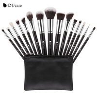 DUcare New 15 Pcs Makeup Brushes Set Professional Synthetic Hair Goat Hair Cosmetics Kit Make Up