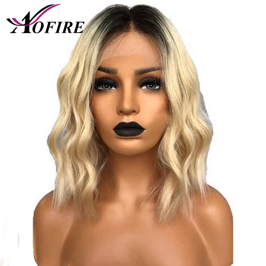 1B/613 Blonde Short Bob 13x4 Lace Front Human Hair Wigs Pre Plucked With Baby Hair 150% Density Brazilian Remy Wave Wig Aofire