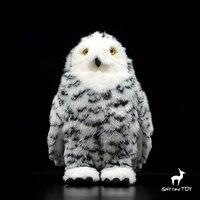 Siberian owl doll plush toy cute white owl dolls stuffed Animal model Decoration toys high quality