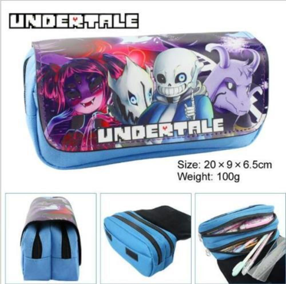 Game Undertale Pencil Case Pen Bag Cosmetic Make up Bag Student's Stationery Bags Gift