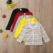 Kids Coat Fashion Baby Boys Girls Clothes Knitted Tops Cardigan Coats Toddler Baby Jacket Long Sleeve Sweater Children Coat 1-6Y(China)
