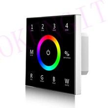 Panel táctil de Control remoto para control remoto de 4 zonas RGBW panel de Control remoto T14 DMX512, RGBW maestro, 4 zonas, 85 265VAC