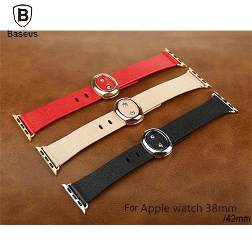imágenes para Baseus para Apple Reloj 38mm 42mm Serie Modern Classic Hebilla de Banda de 42mm Reloj de Cuero Genuino Correa de reloj de Pulsera correa