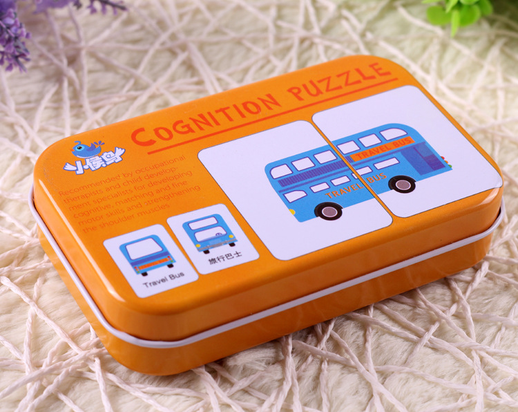 0 36 Months Kids Cognitive Cards Baby Toys Baby Visual training card animal cards for Preschool education Early Education in Puzzles from Toys Hobbies