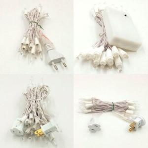 Image 5 - 5 m 50 Vermelho Bolas de Algodão Fada LED String Luzes Do Feriado das Luzes de Natal Guirlandas AC Alimentado Por Bateria Em Casa Decoração do casamento 116