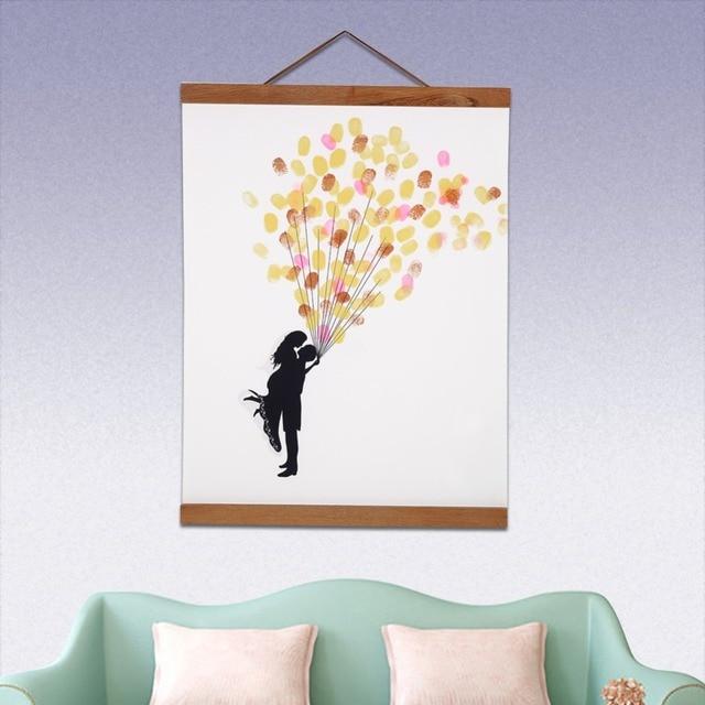 Magnetic Wooden Hanger Poster Frame Hanging Wall Art Books Home ...