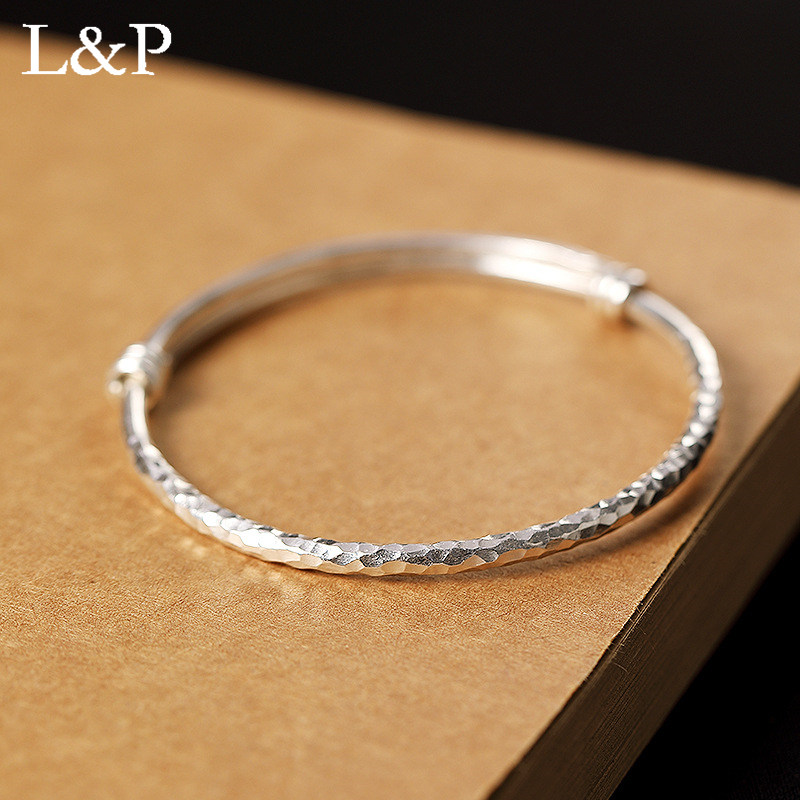 L&P 2019 New Elegant Real Silver Bangle Bracelet for Lady Bohemia Original Design 925 Sterling-silver Luxury Fine JewelryL&P 2019 New Elegant Real Silver Bangle Bracelet for Lady Bohemia Original Design 925 Sterling-silver Luxury Fine Jewelry