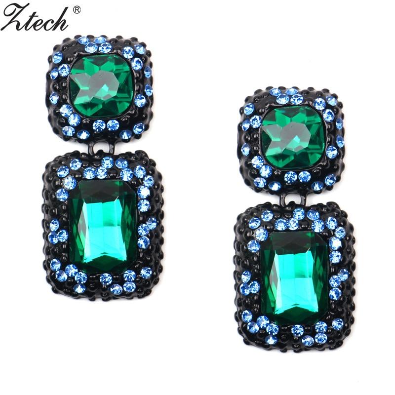 Bride earrings cosmetic popular Style Big rhinestone ...