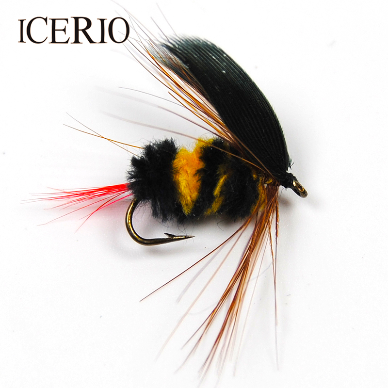 3 X BARBED BLACK//YELLOW FOAM BUGS sizes 8,10,12 available  CARP FISHING FLIES