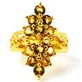 8 # Потрясающие Золотой Цитрин SheCrown женщины Созданы Золото Серебро Кольцо 27 х 17 мм