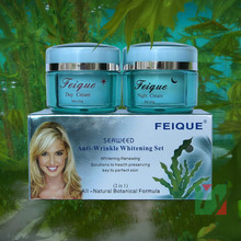 wholesale 2014 New Arrival FEIQUE SEAWEED remove wrinkle cream anti freckle 20g+20g facial 12sets/lot