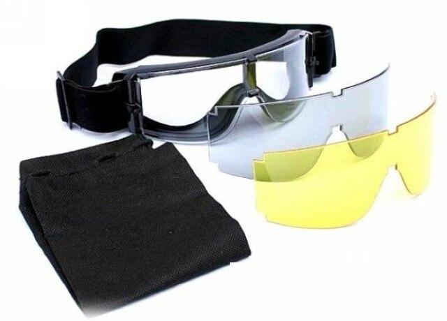 """""""USMC"""" karinis """"Airsoft X800"""" taktinis akinių fotografavimo akiniai GX1000 juodas 3 objektyvas motociklas vėjo nepralaidžia Wargame"""