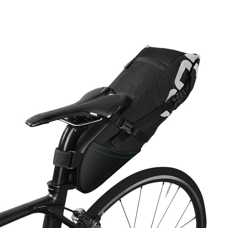 ROSWHEEL Haute capacité Vélo selle queue sacs Vélo de stockage pack imperméable vélo plateau sac Vélo Organisateur pack 8L 10L