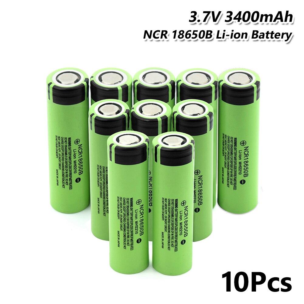 10 pcs Jouet Torche Gamepad RCN 18650B Batterie Rechargeable 3.7 v 3400 mah Cellfor Laser Stylo Portable Lampe de Poche LED batterie titulaire