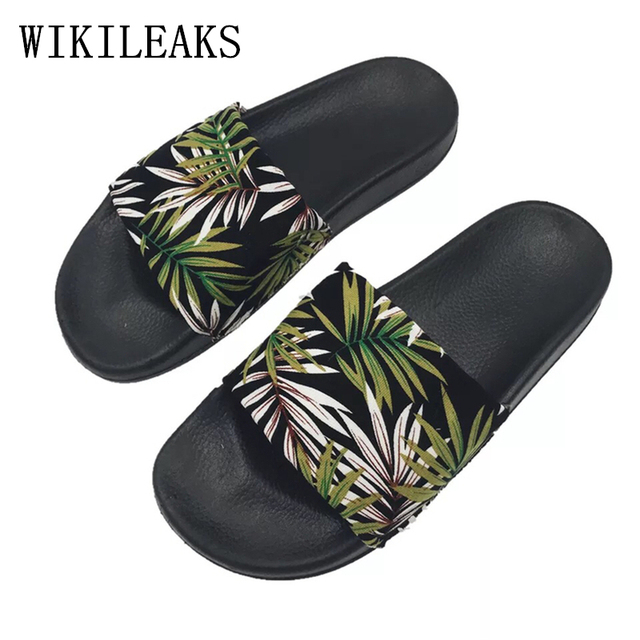 2019 designer slippers women luxury brand summer shoes woman beach slippers  platform slippers pantufas terlik sapato f8614c683e3f