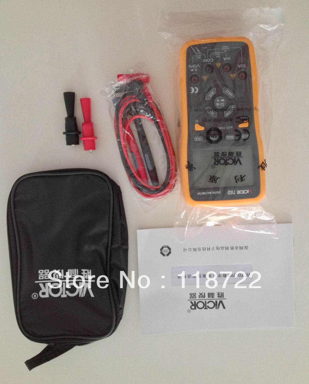 VC70D Digital Multimeter,Coninuity buzzer,Backlight,61 section analog bar graph display,Key-press operation