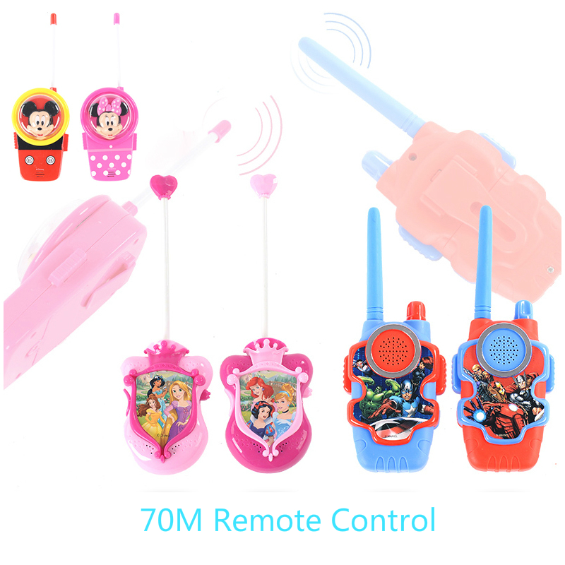 Genuine Marvel Mickey Minnie Princess Series Children Toys Intercom Outdoor Wireless Call 1Pair Handheld Boy Girl Intercom Phone