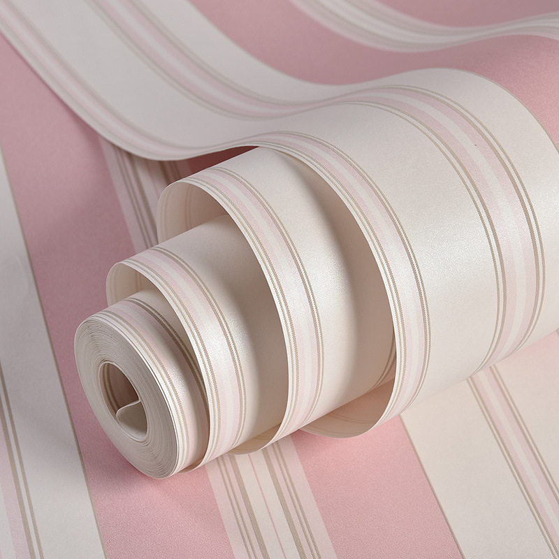 beibehang Mediterranean 3D wallpaper for living room bedroom children's room pink striped wall paper papel wall wall paper