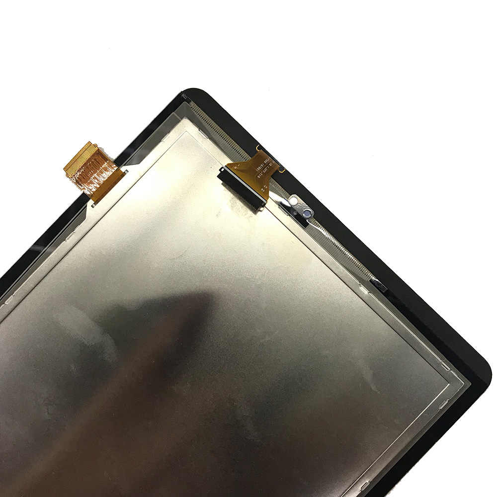 اللوحي شاشات lcd لسامسونج غالاكسي S-القلم تبويب 10.1 SM-P580 SM-P585 P580 P585 شاشة الكريستال السائل مجموعة المحولات الرقمية لشاشة تعمل بلمس استبدال