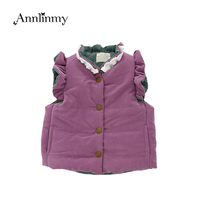 toddler coat 2018 autumn winter new sleeveless girl vest jacket cute bow decoration Thick vest coat for baby girl winter clothes