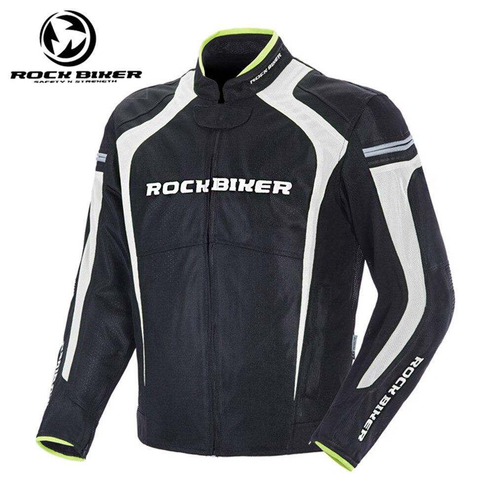 Roche Motard nouveauté Réfléchissant Hommes Moto Veste De Course Armure Moto Vélo Équitation Motocross Vêtements Avec 5 pièces Protecteurs