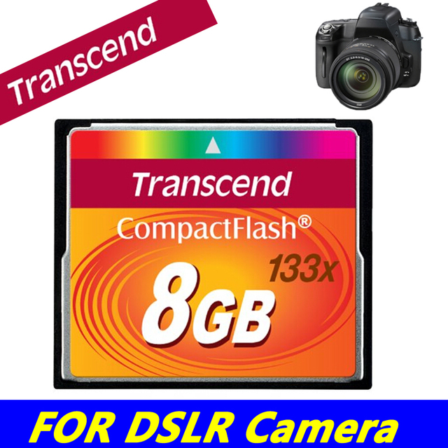 100% Brand genuine Transcend Memory Card 8GB Professional CF Card 133x Compact Flash For DSLR Camera HD 3D Video Digital Cameras
