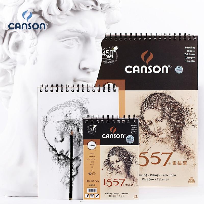 France Canson Artist Sketch Book 8K/16K/32K SketchBook 40Sheets Coil Notebook Drawing Painting Sketch Art Supplies