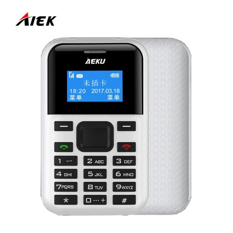 Newest AIEK AEKU C8 Mini Low Radiation Card Phone PK AIEK E1 M5 C6 MP3 Player