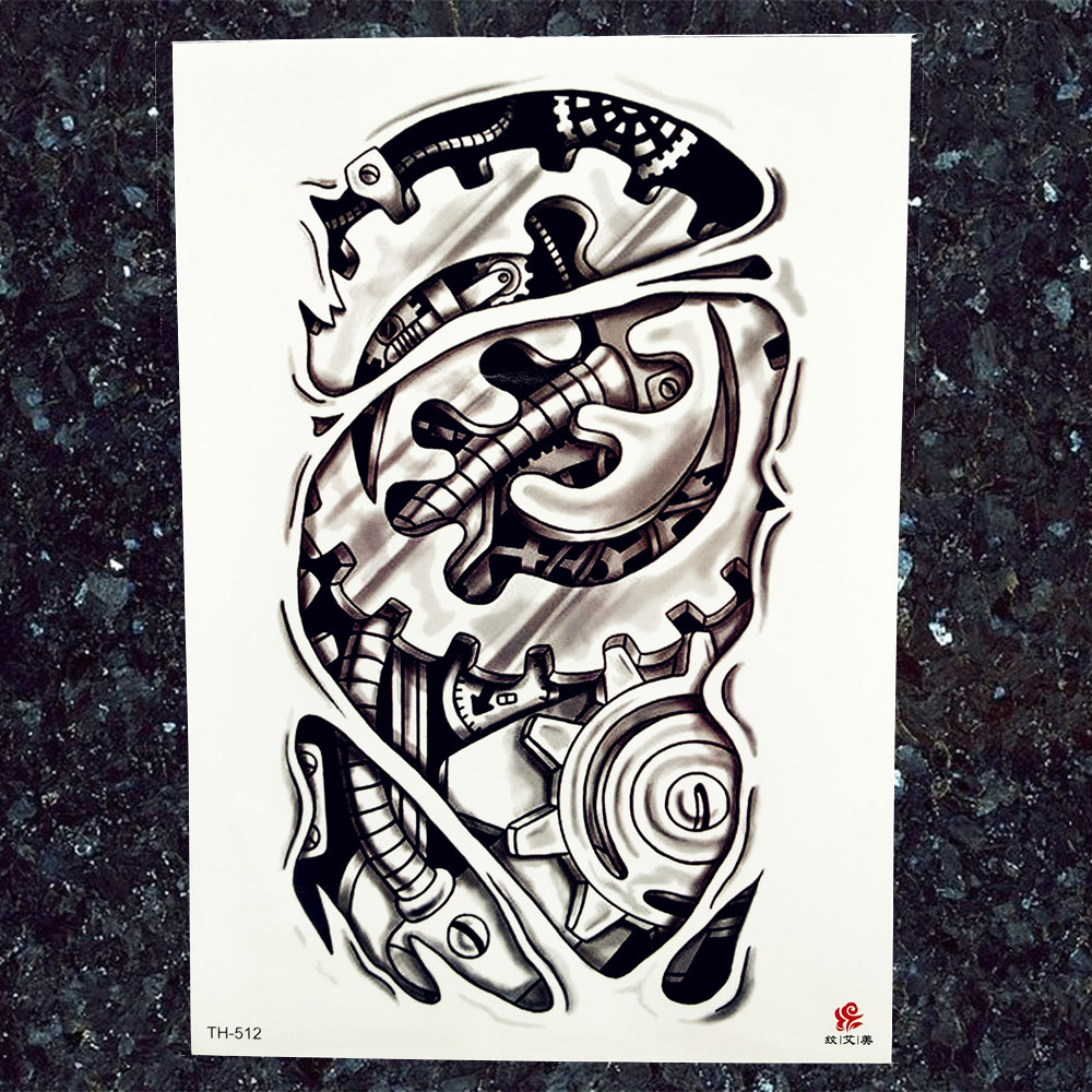 Indians Heena Owl Totem Temporary Tattoo Stickers Men Arm Art Tattoo