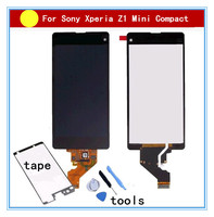 For Sony Z1 Compact Mini D5503 M51W Z1mini LCD Display Touch Screen Digitizer Assembly Glue Tools