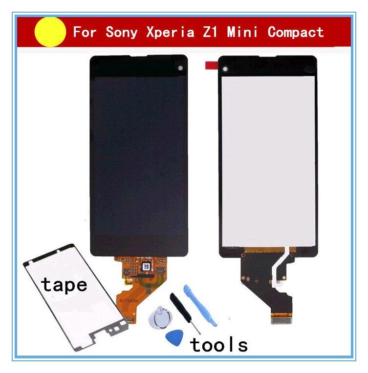 Pour Sony Z1 Compact Mini D5503 M51W z1mini écran lcd écran Tactile Digitizer Assemblée + colle + outils