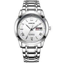 2017 Nueva Apresurado Real Mans Del Relogio masculino Relojes Correa de Acero Blanco Watchface Negro Hombre Relojes de Pulsera Automático A Prueba de agua