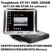 Top-rated Toughbook Panasonic CF 19 CF19 CF-19 laptop with DTS Monaco8+Vediamo+Xentry+DAS+EPC installed in HDD for MB Star C4