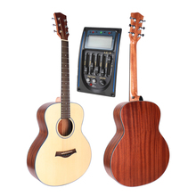 36″ Acoustic Electric Guitar,Spruce Top/Body guitarra eletrica With LCD Pickup, GS mini guitar,For Children For travel guitar