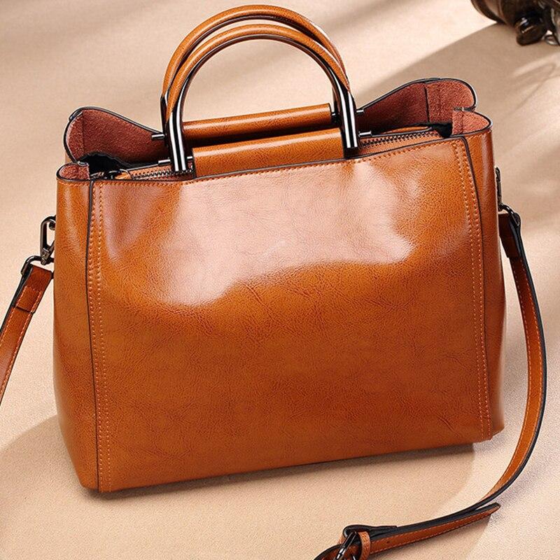 OCEHNUU Soft Genuine Leather Women Leather Handbags Shoulder Bag Vintage Luxury Designer 2018 Ladies Messenger Bags