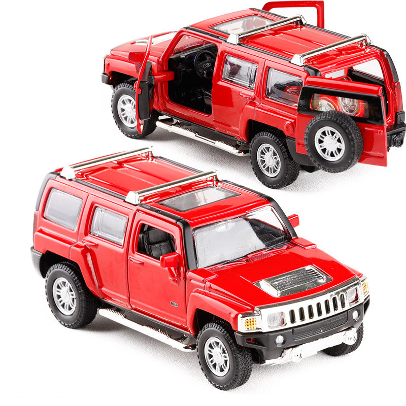 Free Shipping/Diecast Toy Model/1:32 Scale/Hummer H3 SUV Sport Car/Pull Back/Sound & Light/Educational Collection/Gift For Kid