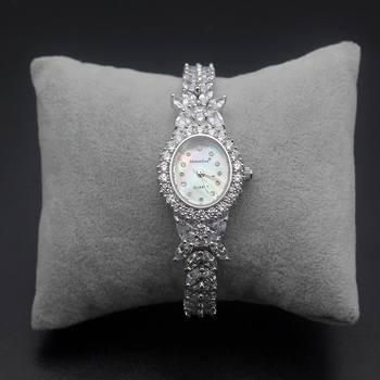 Xmas Gift Wristwatches Sterling Silver Fit Prom Dresses Fashion Watch 8 inch Free Shipping HS0013W