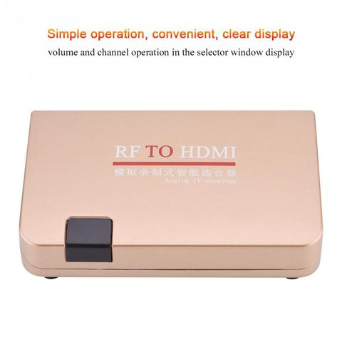 RF to HDMI Converter Analog TV Receiver Adapter Digital Converter Box with Remote Control for Projectors Network Engineering Pakistan