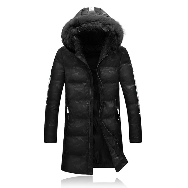 2016 nuevo estilo de invierno de Los Hombres de ocio de moda impreso algodón acolchada chaqueta de Un hombre con gruesa chaqueta de invierno abrigo de Los Hombres Parkas