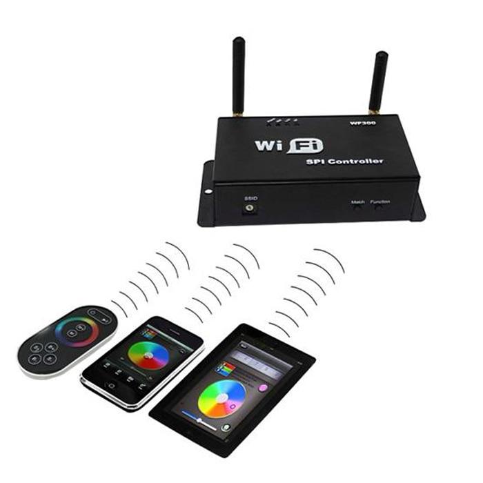 DC5-24V RF WiFi LED de contrôle, contrôleur de bande rvb pour téléphone mobile système Android ou IOS, avec télécommande à écran tactile