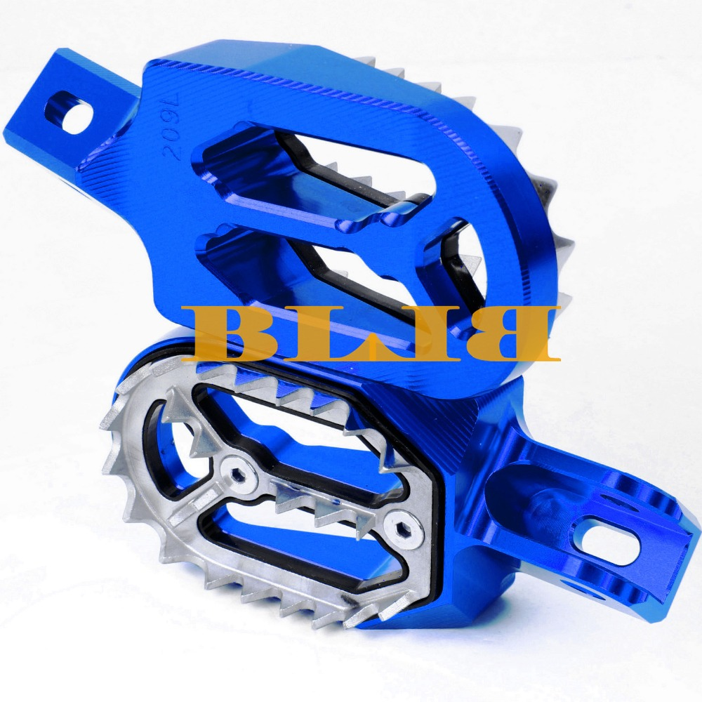 For Yamaha WR250F WR 250F 250 F 2001 2015 2014 2013 2012 Footrests Foot Stakes Footpegs Sharp Teeth CNC Dirt Bike Moto Race Part-in Foot Rests from Automobiles & Motorcycles    1